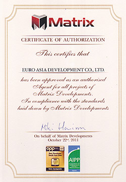 Matrix Certificate of Authorisation Euro Asia Development Co., Ltd.